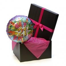 Happy 21st Birthday Helium Balloon PINK