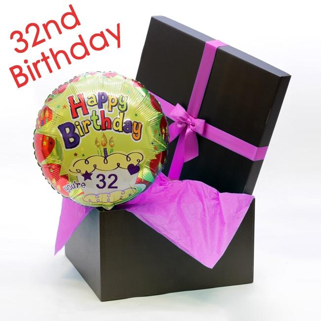 Happy 32nd Birthday Helium Balloon