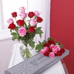 Letterbox Red & Pink Roses