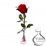 'Love' Charm Single Rose with Tapered Vase