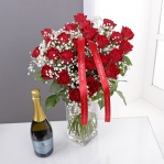 24 Red Roses & Prosecco