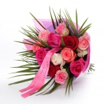 Personalised Premium mixed Rose Bouquet