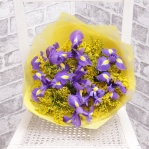 Iris & Solidago Bouquet