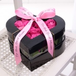 Pink Rose Heart Hat Box