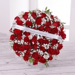 Red Rose & Gypsophila Floral Wreath