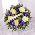Iris & Carnation Floral Wreath