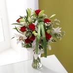 Red Rose & Lily Bouquet