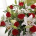 Luxury Red Rose & Lily Bouquet