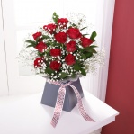 Red Rose & Gypsophila Arrangement