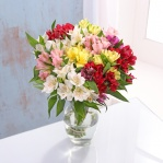 Alstroemeria Bouquet & Chocolates