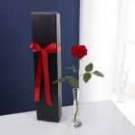 Single Red Rose & Vase Gift Box